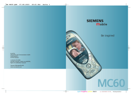 Siemens Siemens MC60 - Instructions Manuals