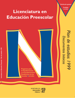 Plan Preescolar 1999/3a reim - Dgespe