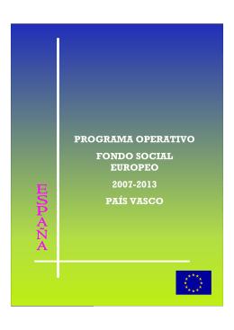 programa operativo fondo social europeo 2007