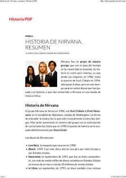 HISTORIA DE NIRVANA, RESUMEN