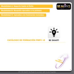 CATÁLOGO DE FORMACIÓN PMP® v5