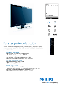 42PFL7403/55 Philips Flat TV con Pixel Plus 2 HD