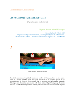 ASTRONOMÍA DE NICARAGUA