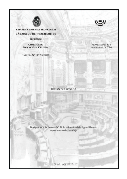 Cámara de Representantes - Repartido 858 de noviembre/2006