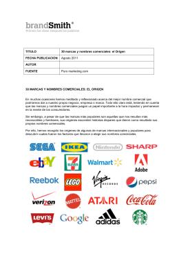 TITULO 30 marcas y nombres comerciales: el Origen