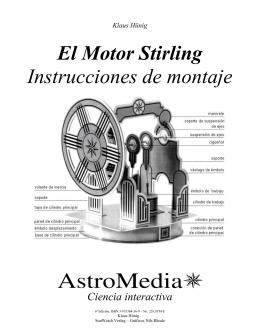 El Motor Stirling Instrucciones de montaje