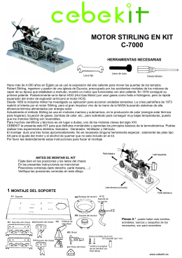 MOTOR STIRLING EN KIT C-7000