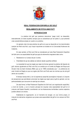 Reglamento de Pitch & Putt - Real Federación Española de Golf