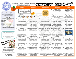 October 2015 - School Nutrition and Fitness