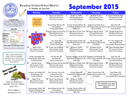 September 2015 - School Nutrition and Fitness