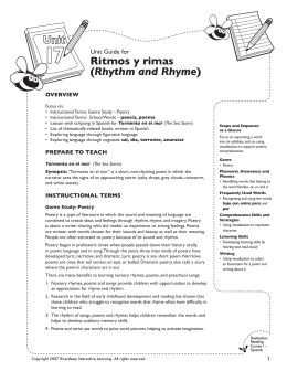 Ritmos y rimas (Rhythm and Rhyme)