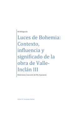 Luces de Bohemia III - Aula virtual de lengua y literatura Bachillerato