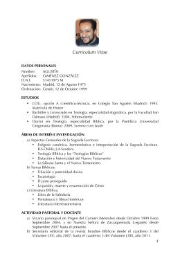 Curriculum - Universidad Eclesiástica San Dámaso