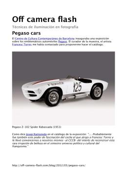 Pegaso cars - Off camera flash