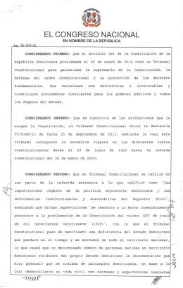 Ley 169-14 - Presidencia de la República Dominicana