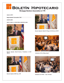 Boletín Hipotecario - Mortgage Bankers Association of Puerto Rico