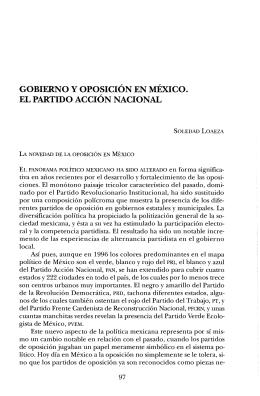 gobierno y oposición en méxico. el partido acción nacional