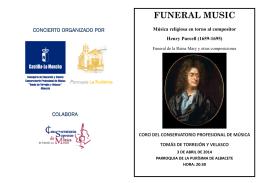 FUNERAL MUSIC - Conservatorio TORREJÓN Y VELASCO