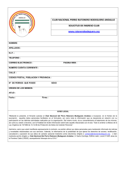CLUB NACIONAL PERRO RATONERO BODEGUERO ANDALUZ