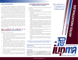 Descargar folleto - IUPMA. Instituto Universitario Pedagógico