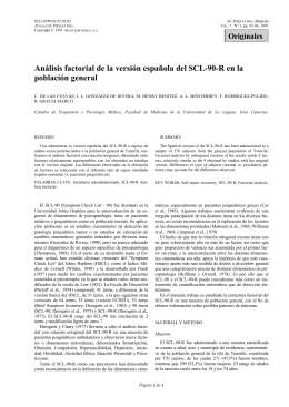 Análisis factorial de la versión española del SCL-90