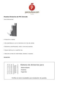 Paneles Divisorios de PVC Extruido