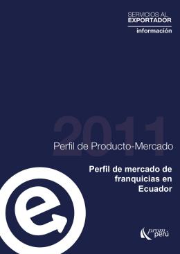 Perfil de mercado de franquicias en Ecuador