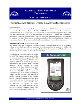 usando palm pilots - Español - Rural Finance and Investment