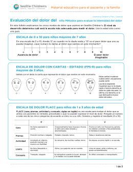 PE952S Assessing Children`s Pain - Spanish