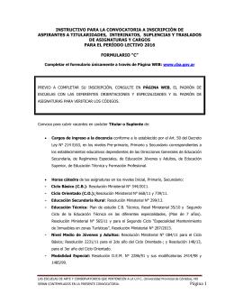 Página 1 - Gobierno de la Provincia de Córdoba