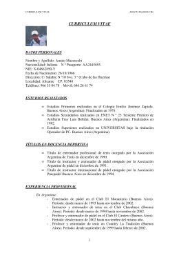 CV Amato Mazzocchi