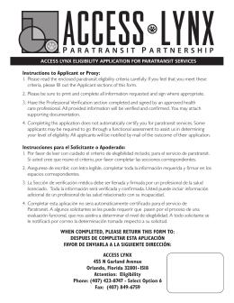Instructions to Applicant or Proxy: Instrucciones para el
