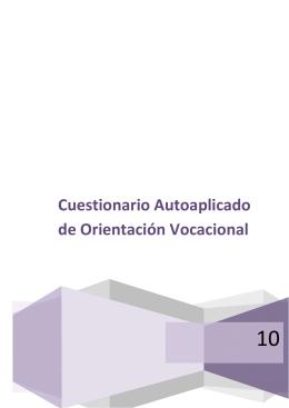 Cuestionario Autoaplicado de Orientación Vocacional