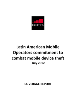 Latin American Mobile Operators commitment to combat