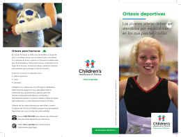 Ortesis deportivas - Children`s Healthcare of Atlanta