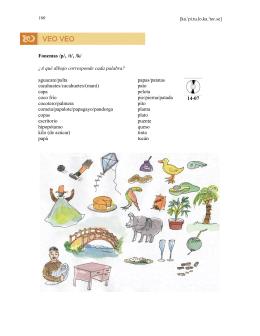 Fonemas /p/, /t/, /k/ ¿A qué dibujo corresponde cada palabra