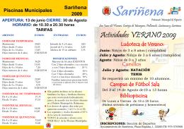 HORARIO - Ayuntamiento de Sariñena