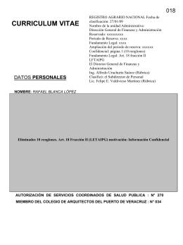 CURRICULUM VITAE - Registro Agrario Nacional