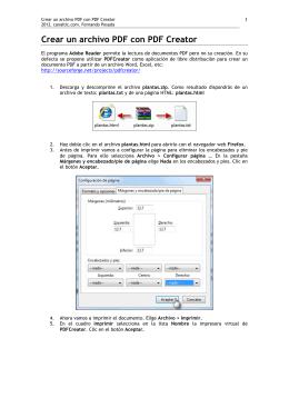 Crear un archivo PDF con PDF Creator