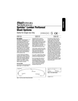 Spetzler® Lumbar Peritoneal Shunt Systems