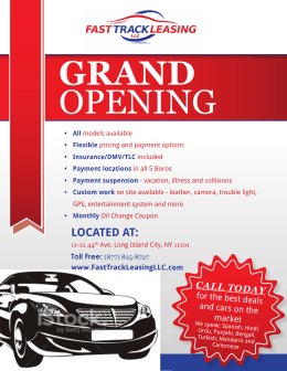 LOCATED AT: - Fast Track Leasing