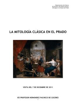 LA MITOLOGÍA CLÁSICA EN EL PRADO