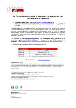 020714Ndp Ofertas de Empleo- Baleares