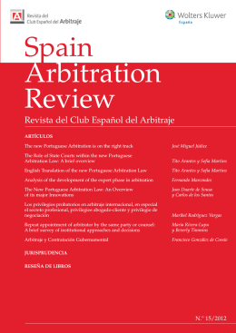 Spain Arbitration Review - Pérez