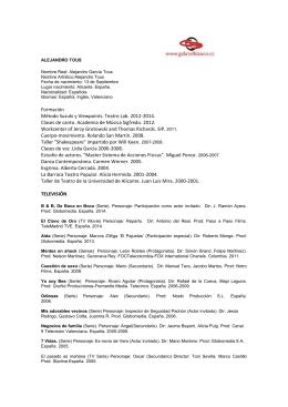 Formación Método Suzuki y Viewpoints. Teatro Lab