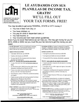 WE`LL FILL OUT YOUR TAX FORMS. FREE!