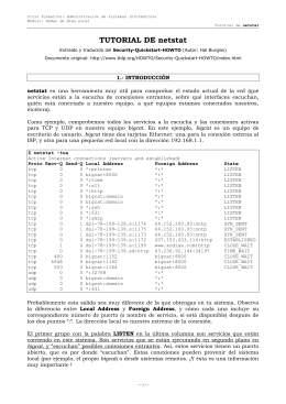 TUTORIAL DE netstat - Departamento de Informática