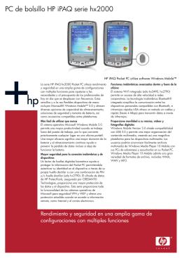 HP Commercial Handheld Datasheet