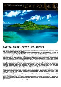 CAPITALES DEL OESTE - POLINESIA