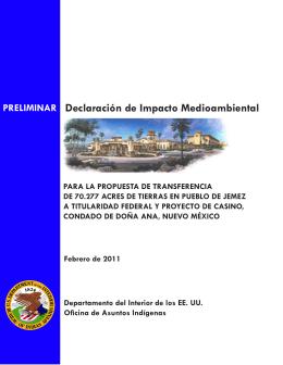 PRELIMINAR Declaración de Impacto